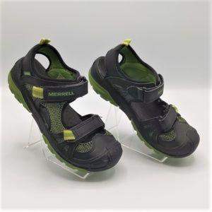 Merrell  Hydro Rapid Black & Green Sandals Size1
